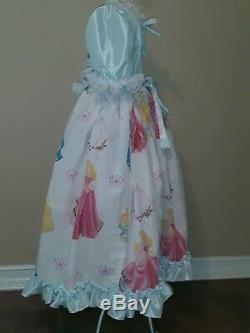 #121 ADULT Costume BABY SISSY Disney PRINCESS Ballgown Dress withBonnet ABDL