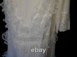 #153 New all WHITE LACE fancy Party Dress WEDDING Adult SIZE Baby ABDL SISSY