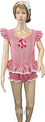 49 Cute Adult Baby Little Girl Summer Romper LG Fantasy Unisex Sissy Dames
