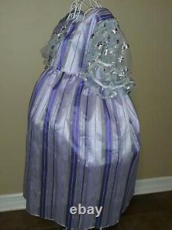 #90 New Costume Purple SILK FANCY PARTY DRESS sz 3x/4x adult baby Sissy ABDL