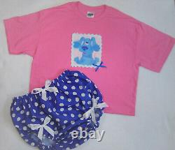 ABDL Adult Baby Sissy Littles Baby BLUES CLUES Play Date Set Shirt Diaper Cover