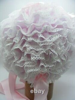 ADULT BABY SISSY BONNET Over the top mega frilly ultimate premium sissy lingerie