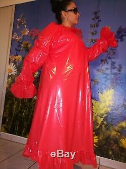 ADULT BABY SISSY PVC Nachthemd NACHTKLEID Negligee LACK LATEX GUMMI GUMPLA XL