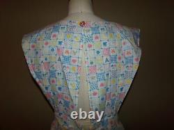 ADULT Baby SISSY Cosplay MOMMY APRON Pastel BABY PRINTS Eyelet UNISEX One Size