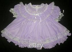 ADULT SISSY FRENCH BABY CHIFFON DRESS lavendar