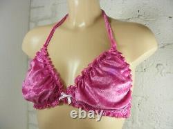 ADULT baby sissy lingerie soft velvet bra and panties set