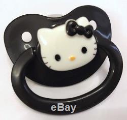 Adult Baby Dummy BLACK ABDL DDLG Sissy Goth Pacifier Paci Binky