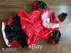 Adult Baby Kleid BODY WINDELBODY Windelhose Sissy PVC LACK Diaper Plastik L-XL