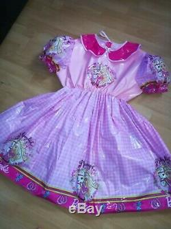 Adult Baby Kleid INTEGRIERTE Windelhose Sissy PVC LACK Diaper HELLO KITTY