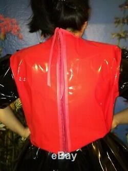Adult Baby Kleid INTEGRIERTE Windelhose Sissy PVC LACK Diaper Plastik L-XL