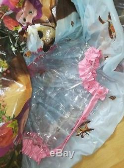 Adult Baby Kleid Integrierte Windelhose Sissy PVC LACK Diaper Plastik Spreizhose