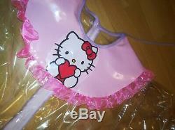 Adult Baby Kleid Rosa INTEGRIERTE Windelhose Sissy PVC LACK Diaper Plastik L-XL