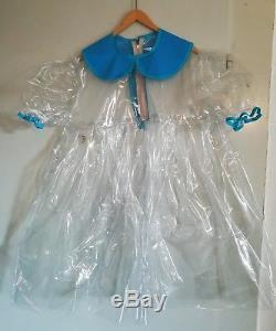 Adult Baby Kleid Sissy PVC LACK Diaper Plastik Glasklar TRANSPARENT WEICH GR. XL
