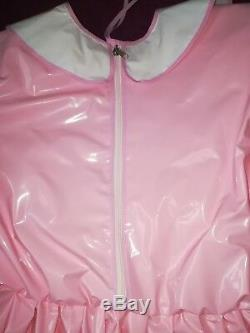 Adult Baby Kleid Windelhose Gummihose Sissy PVC LACKPlastik HALLO KITTY XS- S