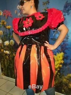 Adult Baby Kleid Windelhose Sissy GLANZ PVC LACK Diaper Plastik L-XL
