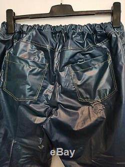 Adult Baby SISSY GUMMIHOSE PVC Hose LACK Jeans Gummi PLASTIK TRAVESTIE XL XXL