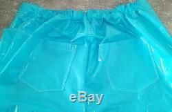 Adult Baby SISSY GUMMIHOSE PVC Hose LACK Jeans Gummi Unisex PLASTIK TRAVESTIE XL