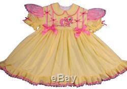 Adult Baby Sissy 2 pc SET Dress My Little Pony Fluttershy Pony Binkies n Bows