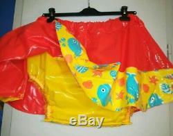 Adult Baby Sissy Aufblasbarer Rock Mit Integrierter Gummihose Lack Pvc Plastik