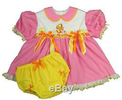 Adult Baby Sissy BABY TIGGER Dress Set Binkies n Bows Winnie Pooh Theme