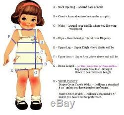 Adult Baby Sissy BLUE Pull Toy Ducky Dress Set Binkies n Bows