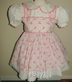 Adult Baby Sissy Ballet Rose Bouquet Dress Besses