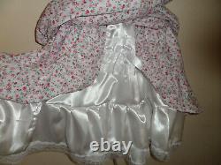 Adult Baby Sissy Floral Bondage Straight Jacket Dress 46 Pretty Satin Lace