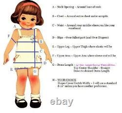 Adult Baby Sissy Littles ABDL Jumbo RED Check APPLE Dress Set Custom Made BnB