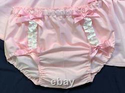 Adult Baby Sissy Littles abdl PINK Lamb Diaper Shirt Set Dress Up Chest Sz 52