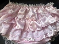 Adult Baby Sissy Panties and Bra Baby pink Satin, hips/chest 36