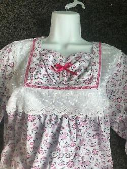 Adult Baby Sissy Pink Floral Romper / Playsuit up to 40 Chest