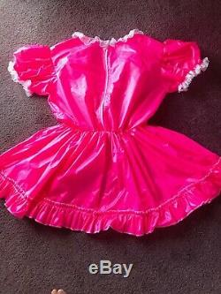 Adult Baby Sissy Pink Waterproof Dress up to 52 chest