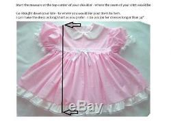 Adult Baby Sissy Simply PINK Square Collar Dress Set Binkies n Bows