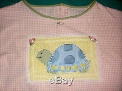 Adult Baby Sissy Turtle Bubble Romper Shortalls Gingham Crossdresser Cosplay