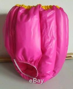 Adult Baby Sissy Wattierte Dicke Windelhose Gummihose Lack Pvc Spreizhose XL