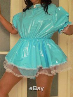 Adult Baby Sissy Zofe pvc dress Süßes PVC Kleidchen mit Rüschen AB ABDL