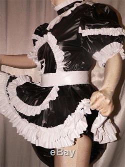 Adult Baby Sissy Zofe pvc dress&sewn in diaper pantykleid & Spreizhose AB ABDL
