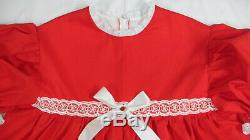 Adult Baby Sissy abdl Littles WYSIWYG RED HOLIDAY Dress Set Ready to SHIP