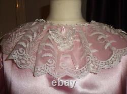 Adult Babysissymaidsunisextv/cd Long Sleeve Satin & Lace Nightie Dress