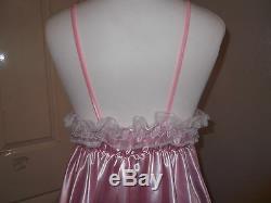 Adult Babysissymaidsunisextv/cd Ultra Frilly Satin & Lace Babydoll Nightie