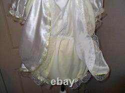 Adult Babysmaidssissyunisex Gorgeous 2 Colour Satin & Lace Romper With Skirt