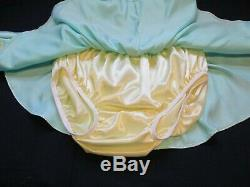 Adult Sissy Baby 2 pc Satin Panty Flirt Skirt with matching top panties for men