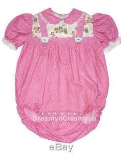 Adult Sissy Baby Bear Girl Bubble Romper Night Sleeper