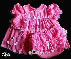 Adult Sissy Baby Chiffon Dress Baby Plastic Lining