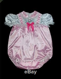 Adult Sissy Baby Girl Baby Pink Romper Night Sleeper 02