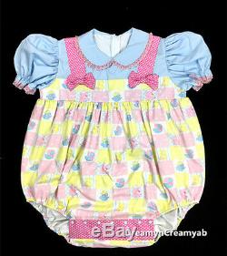 Adult Sissy Baby Girl Bubble Romper Night Sleeper L
