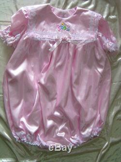 Adult Sissy Baby Girl Bubble Soft Romper Night Sleeper M