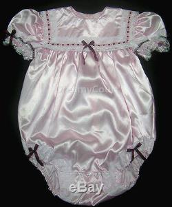 Adult Sissy Baby Pink Girl Soft Romper Night Sleeper R/d