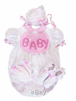 Adult Sissy Baby Pvc Bubble Romper Open Bum Set M