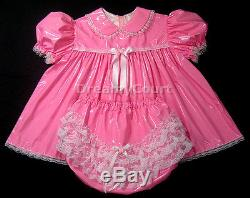 Adult Sissy Baby Pvc Dress 3 Pcs Set